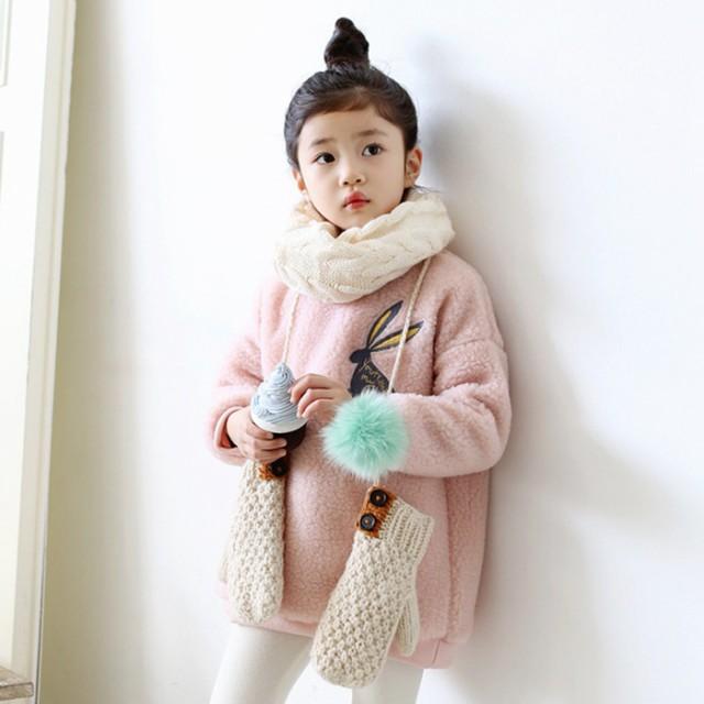 9c7a9d01145b9 子供服 コート 女の子 冬 アウター ジャケット 長袖 韓国子供服 キッズ 可愛い ウサギ刺繍入り