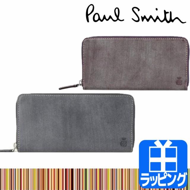 a6ed7eb4ce5f ポールスミス Paul Smith ロウ コレクション ラウンドファスナー 長財布 ショップバッグ付き メンズ ブランド ウォレット