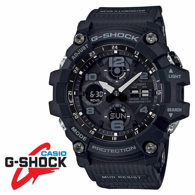 CASIO カシオ G-SHOCK Gショック マッドマスター  電波ソーラー GWG-100-1A ブラック メンズ腕時計