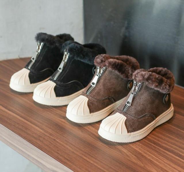 69d2205961790 子供靴 スノーブーツ キッズファー ブーツ ベビーシューズ 秋冬 子供 ベビー靴 幼児 雪遊び
