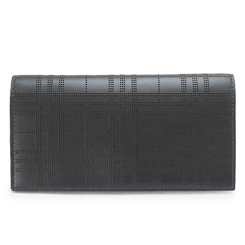 dd633b45a91b バーバリー 長財布 メンズ 8005952 A1189 パーフォレーテッドチェック 二つ折り 財布 レザー ブラック