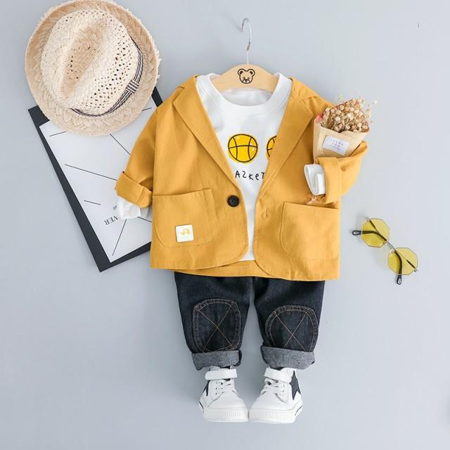 48090b5d601f5 セットアップ ベビー Tシャツ パンツ アウター 男の子 子供服 キッズ 赤ちゃん スウィート 可愛い 着心地良い