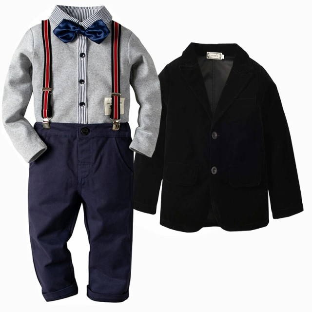 3859cfb3fbaa0 子ども服 男の子 スーツ ジャケットニッカポッカスーツ フォーマル 男児 入園式 保育園 タキシード 子供 ベビー 結婚