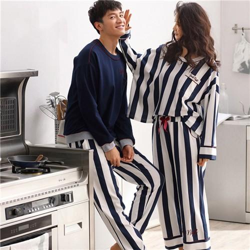 ペア カップル 人気 ペア パジャマ カップル 綿 カップル ペア ルームウェア レディース パジャマ メンズ お揃い 長袖 前