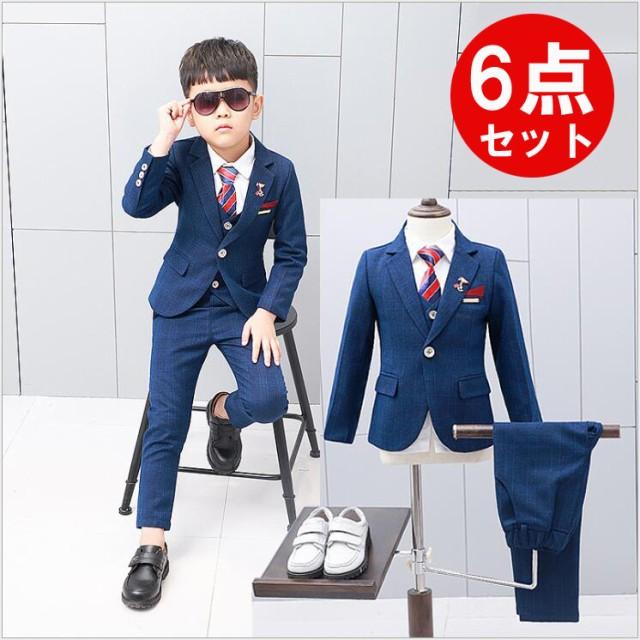 0b7652aecc4ef  2018人気新作・6点セット  男の子 スーツ 子供 スーツ キッズ 男の子 フォーマル
