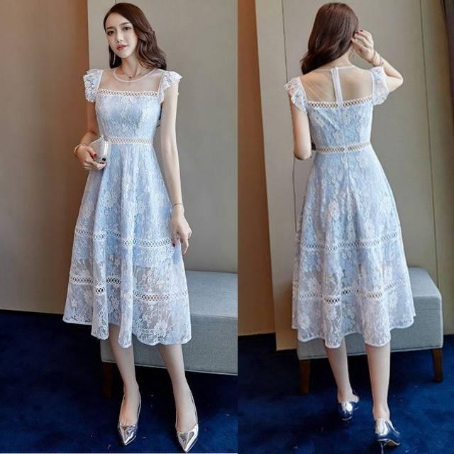 4d6559f5e3442 結婚式 ドレス パーティードレス お呼ばれ ワンピース 二次会 ドレス ノースリーブ 発表会 謝恩会 20代