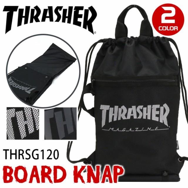 fb71fa714a23 THRASHER スラッシャー ボード ナップサック リュックサック バッグ ナップザック メンズ レディース 男女兼用 ブラック B4  THRSG120 thr