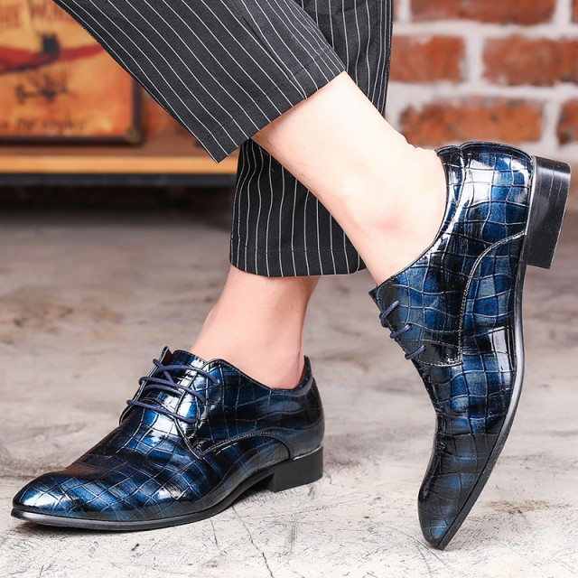 ビジネスシューズ メンズ スリッポン ローファー イギリス風 紳士靴 レースアップ チェック柄 通気 通勤 フォーマル おしゃれ