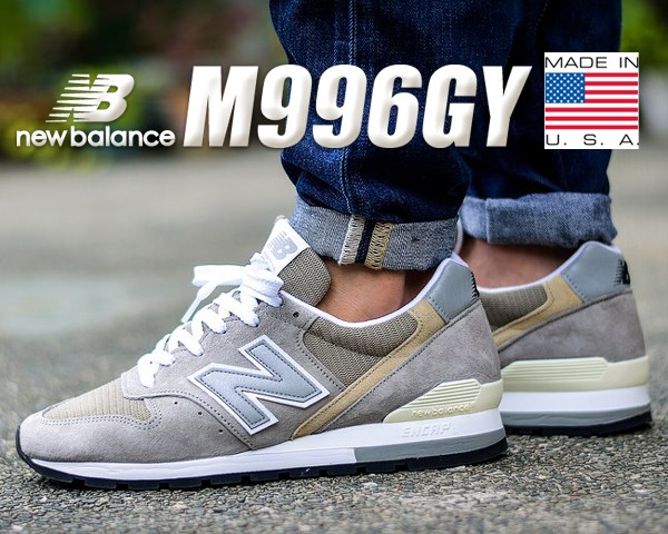 7afbe03634131 【送料無料 ニューバランス 996】NEW BALANCE M996GY MADE IN U.S.A 【NB 996 グレー