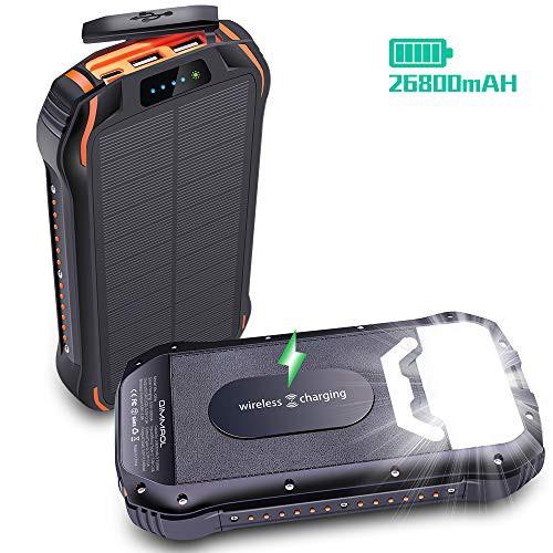 【26800mAh高容量&ワイヤレス充電対応】モバイル...