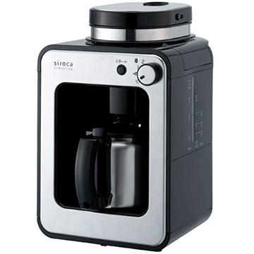 シロカ 全自動コーヒーメーカー siroca crossline ステンレスサーバー ブラック STC-501-BK