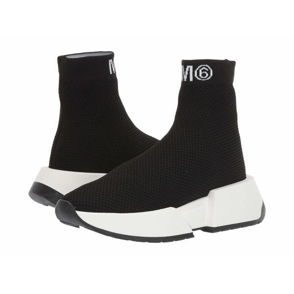 マルタンマルジェラ レディース スニーカー シューズ Logo Sock Sneaker Black