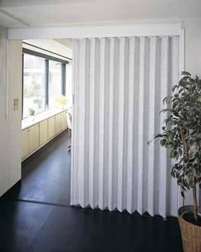 アコーディオンドア バオム/Baum ウィスト サイズ:150X220cm パネルドア アコーディオンカーテン 間仕切り エコ