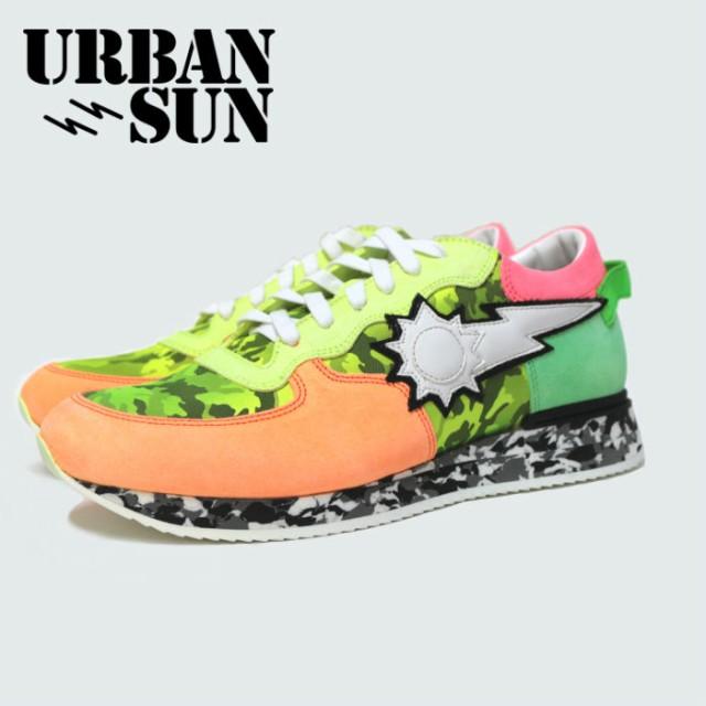 URBAN SUN アーバンサン スニーカー ローカット メンズ スニーカー 靴 イタリアブランド 迷彩 カモフラージュ LEON