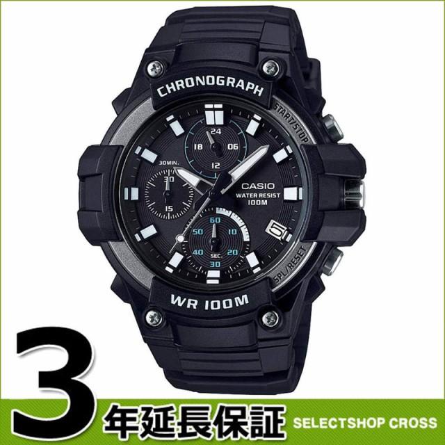 e90f3b91ae カシオ CASIO チープカシオ クロノグラフ 100M防水 チプカシ メンズ 腕時計 ブラック MCW-110H-
