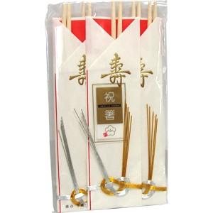 大和物産 祝箸むすび 5本セット (930309206)