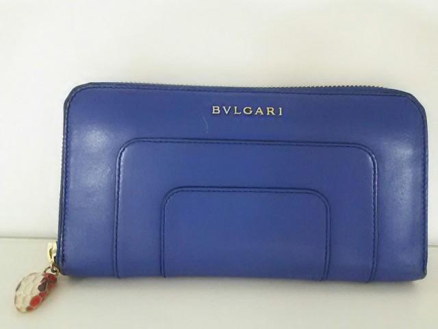 ブルガリ BVLGARI 長財布 - 37467 ブルー ラウン...
