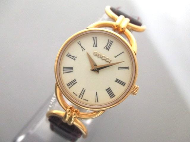 グッチ GUCCI 腕時計 6000.2.L レディース 型押し...