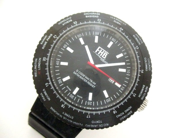 エフエイチビー FHB 腕時計 F-505 メンズ ラバー...