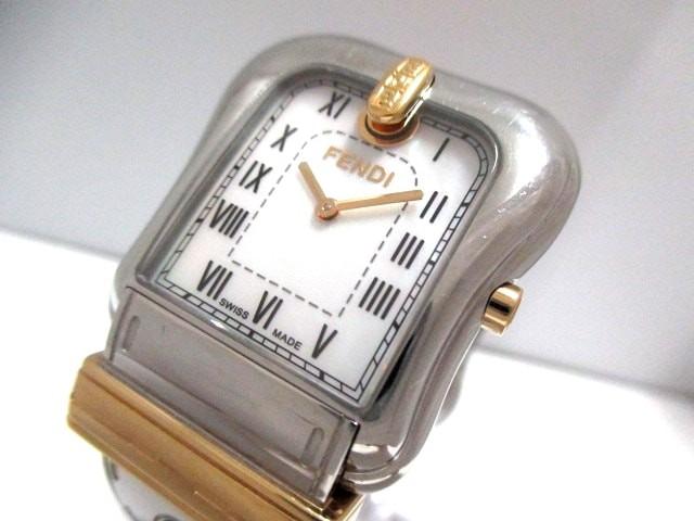 フェンディ FENDI 腕時計 3800G レディース シェ...