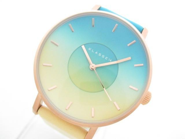 クラス14 KLASSE14 腕時計 美品 - レディース 革...