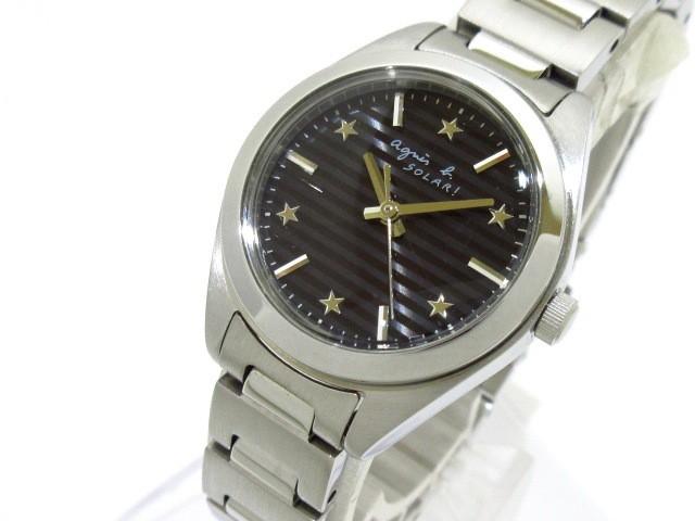 アニエスベー agnes b 腕時計 美品 V117-0AH0 レ...