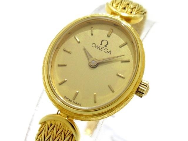 オメガ OMEGA 腕時計 - レディース 金無垢 ゴール...
