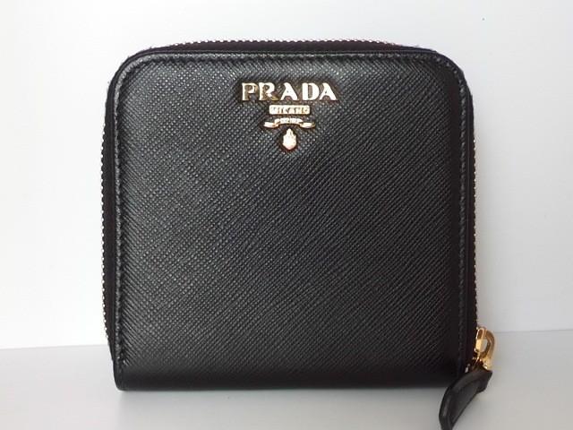 プラダ PRADA 2つ折り財布 レディース - 黒 ラウ...