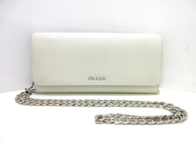 プラダ PRADA 財布 レディース - 1MT003 白 チェ...
