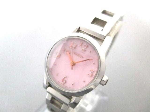 ワイアード WIRED 腕時計 美品 1N01-0KL0 レディ...