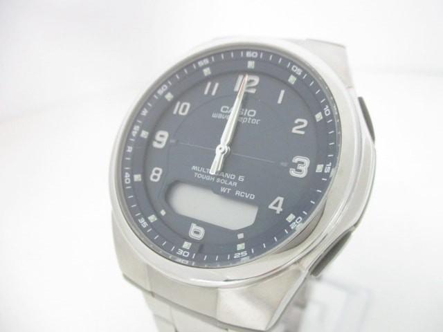 カシオ CASIO 腕時計 美品 WVA-M600 メンズ ネイ...