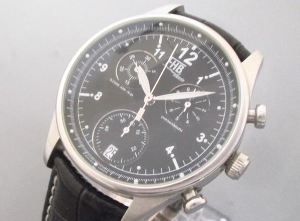 エフエイチビー FHB 腕時計 F-404 メンズ 型押し...