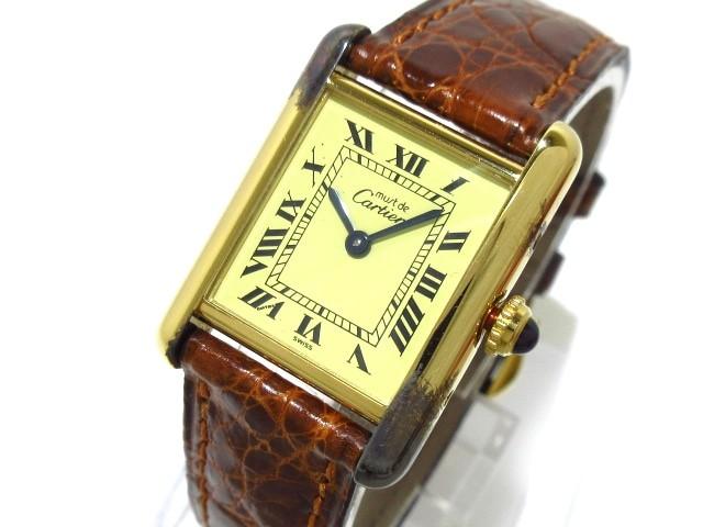カルティエ Cartier 腕時計 マストタンクヴェルメ...