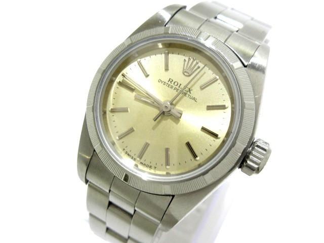 cb7eb6648f ロレックス ROLEX 腕時計 オイスターパーペチュアル 67230 レディース シャンパンゴールド【中古】