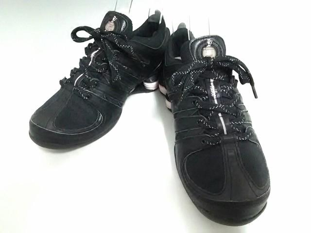 ナイキ NIKE スニーカー レディース 美品 313764-053 黒×ピンク 化学繊維【中古】
