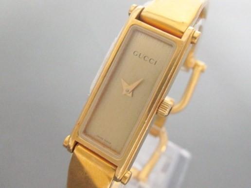 グッチ GUCCI 腕時計 1500L レディース ゴールド...