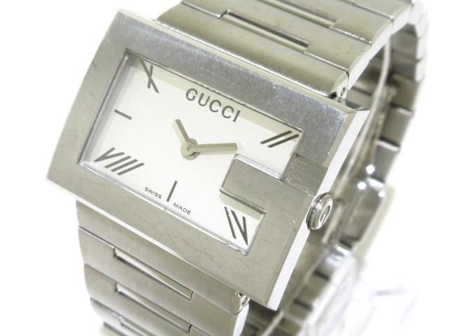 グッチ GUCCI 腕時計 100L レディース SS シルバ...