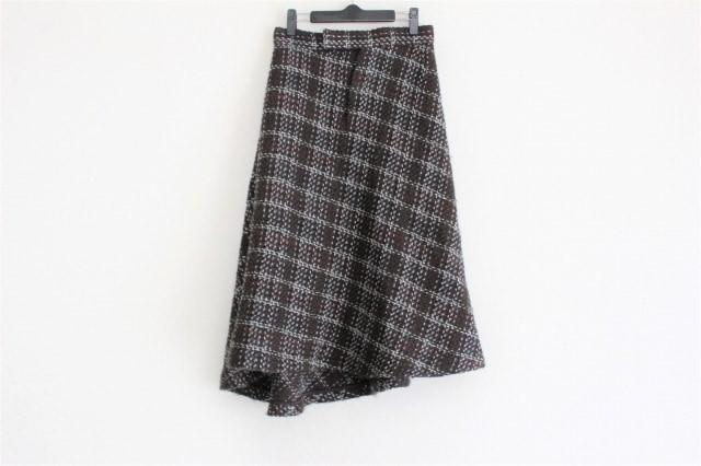 ワイズ Y's スカート レディース ダークグレー×...
