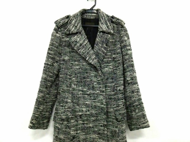 ロエベ LOEWE コート レディース 黒×白 冬物【中...