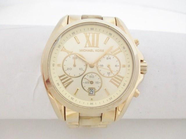 1e7a06b1003e マイケルコース MICHAEL KORS 腕時計 - MK5722 ボーイズ クロノグラフ ゴールド【中古】