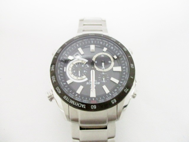 6c04a95293 カシオ CASIO 腕時計 エディフィス EQW-T620 メンズ 黒【中古】