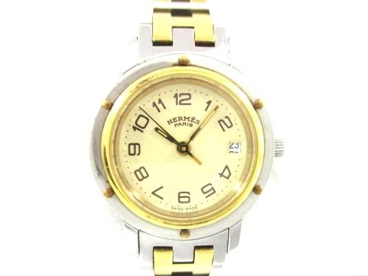 エルメス HERMES 腕時計 美品 クリッパー CL3.240...