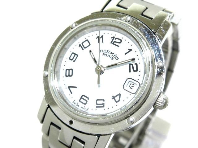 エルメス HERMES 腕時計 美品 クリッパー CL4.210...