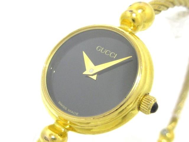 グッチ GUCCI 腕時計 2700.2.L レディース 黒【中...
