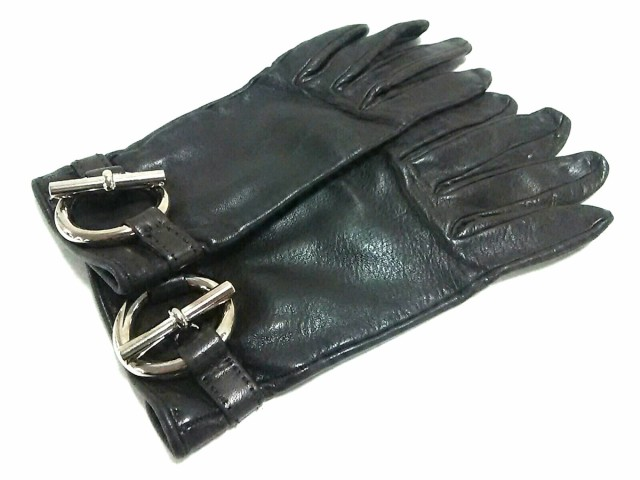 9a869462959a エルメス HERMES 手袋 レディース 美品 グレナン ダークブラウン サイズ:6(1/2