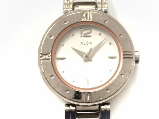 アルバ ALBA 腕時計 1N01-0L70 レディース 白【中...
