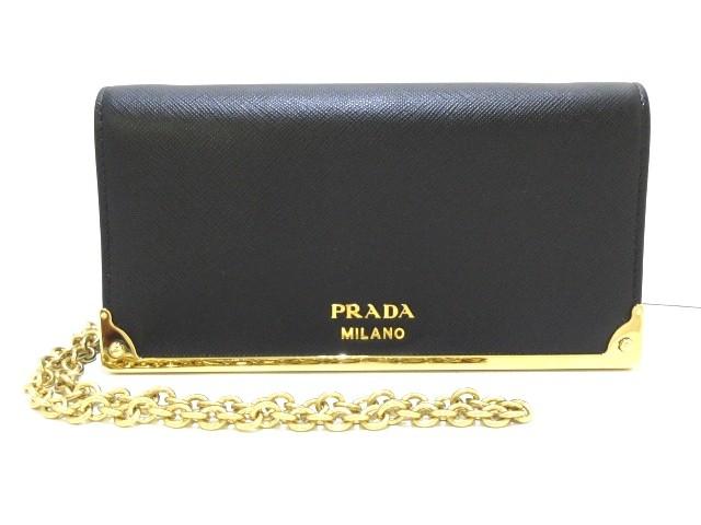 プラダ PRADA 財布 レディース 美品 - 1DH044 黒 ...