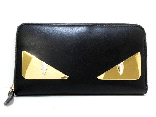 フェンディ FENDI 長財布 レディース - 8M0299 黒...