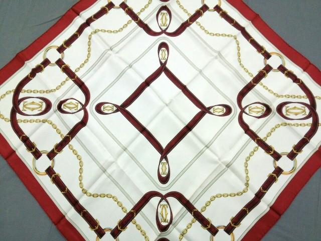 カルティエ Cartier スカーフ レディース アイボ...