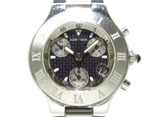 カルティエ Cartier 腕時計 マスト21クロノスカフ...